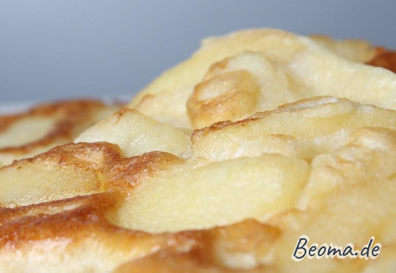 Detailaufnahme Apfelpfannkuchen